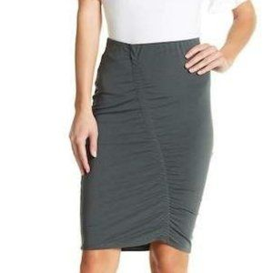 14th & Union Ruched Front Midi Skirt, S
